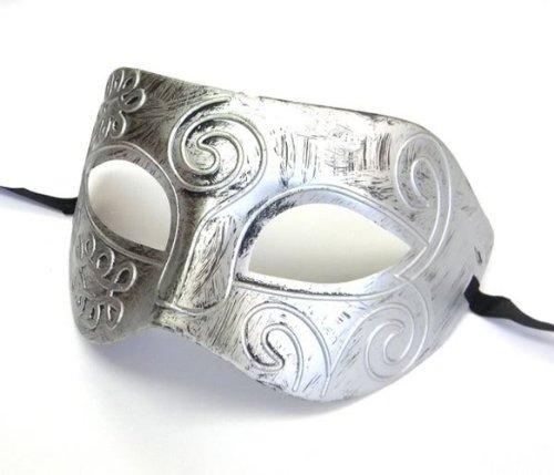 Herren Silber griechisch-römischen Gesichtsmaske Partei Karneval Maske
