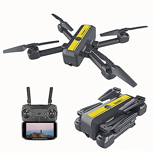 GZTYLQQ Drone GPS FPV Pieghevole con videocamera HD 4K Video in Diretta per Principianti, Quadricottero RC con GPS Ritorno a casa, Seguimi, Controllo dei gesti, Volo in Cerchio, Hover Automatico e T
