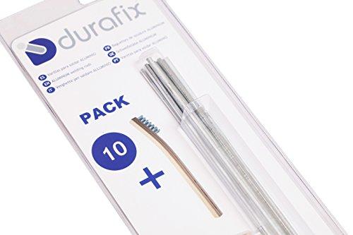 DURAFIX® Schweißstäbe Aluminium mit 1 Bürste Rostfreier Draht Packung 10