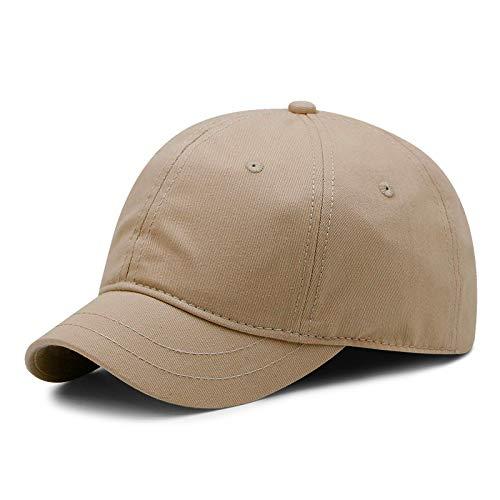 Gorra de béisbol de color sólido con ala pequeña, sombrero para el sol de verano para hombres y mujeres, gorra ecuestre de ocio al aire libre, gorras deportivas de gran tamaño, 55-63 cm (caqui)
