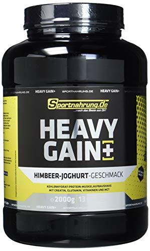Sportnahrung.de Heavy Gain - der Top Weight Gainer angereichert mit Creatin, Glutamin, Vitaminen und MCT Himbeere-Joghurt, 2000 g