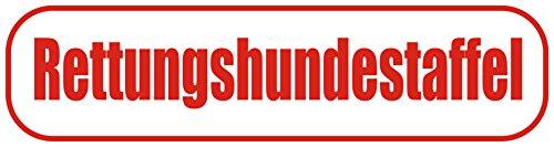 INDIGOS UG - Magnetschild Rettungshundestaffel 45 x 12 cm - Magnetfolie für Auto/LKW/Truck/Baustelle/Firma