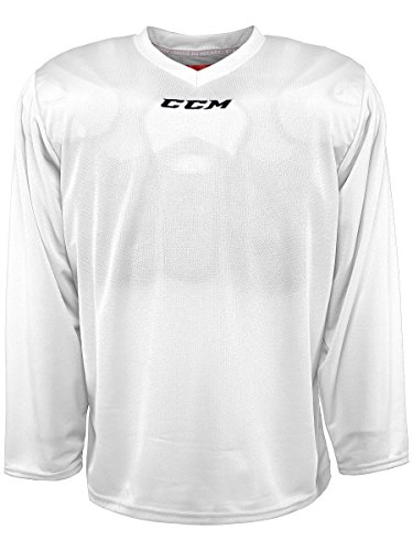 CCM 5000 Series Hockey Practice Jersey - Junior - White, Small/Medium