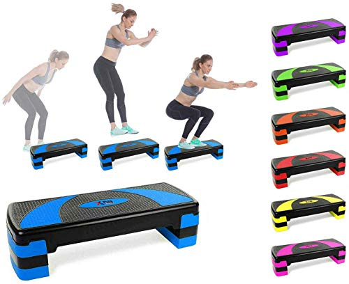 Xn8 Aerobic Stepper Fitness Steps-Adjustable Height 3 Level 10cm, 15cm & 20cm...