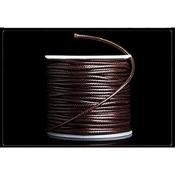Rmeet Cuerda Encerada,85M Encerado Algodón Collar Cordón Cordón de ...