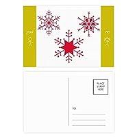 クリスマススノーフレークレッド・フェスティバル 友人のポストカードセットサンクスカード郵送側20個