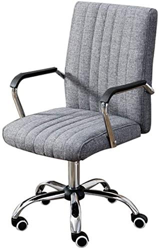 BeingHD Qualitätsbürostuhl, Bürostuhl mit Armlehne Computerstuhl Home Office Chair Meeting Modern Minimalistische Stuhl Personalstuhl Mahjong Sesselliftstuhl (Color : Gray)
