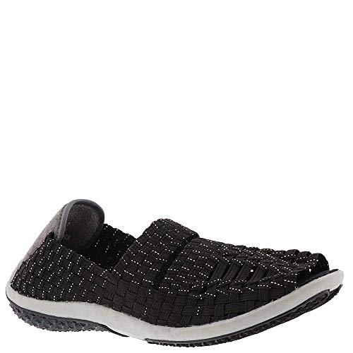 Corkys Float Women's Elastic Athletic Comfortable Open Toe Sandal 6 B(M) US Black-Silver