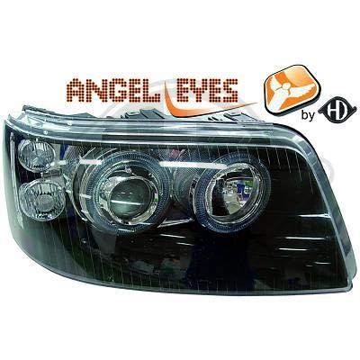 2272680, 1 paar Angel Eyes koplampen, zwart, voor T5 Caravelle, Multivan 2003 tot 2010