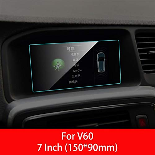 ZhengELE Navegación GPS de coche Protector de pantalla for Volvo XC40 XC90 S60 S90 S80 XC60 V40 V70 V60 interior de la película protectora Accesorios for automóviles (Color Name : For V60)