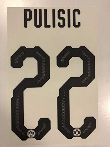 Flock Original BVB Borussia Dortmund Trikot 20cm - PULISIC 22