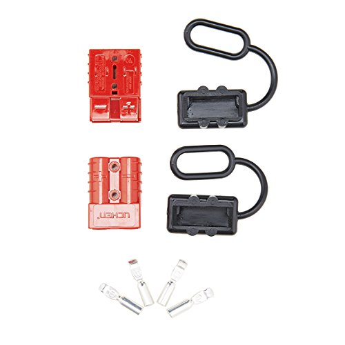 Orion Motor Tech 6-8 Gauge Battery Quick Connect Disconnect Wire Harness Plug Kit for Recovery Winch or Trailer, 12-36V DC, 50A