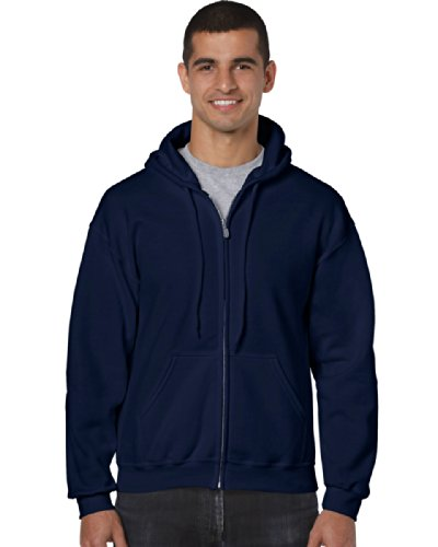 Gildan - Sweat-shirt à capuche - Homme bleu bleu marine XX-Large