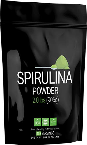 Spirulina 2000mg — 2lbs / 452 Servings: Manufactured in a cGMP-Registered Facility in USA; Vegan & Gluten Free