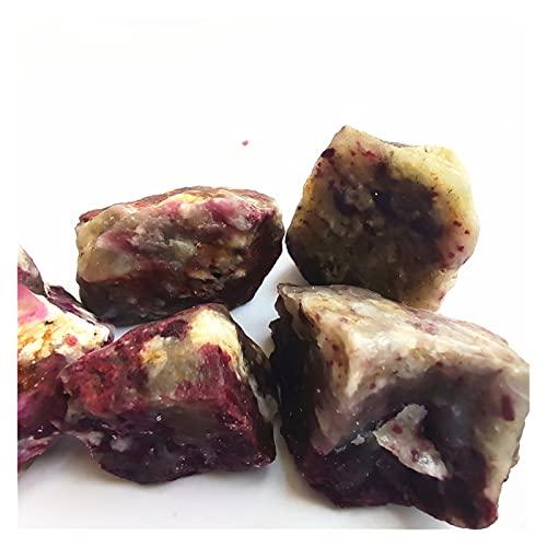 Changskj Cristal Natural Rugoso Natural Pink Tourmaline Crystal Mineral Association Oro (Farbe : 40-50g, Größe : 2-4cm)