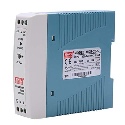 SODIAL MDR-20 5V 20W Din Fuente de Alimentación de Carril Ac/Dc Fuente de Alimentación Del Regulador de Voltaje Del Conductor 110V 220V