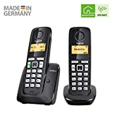 Gigaset A220A DUO - Basic Cordless Home Phone with Answer