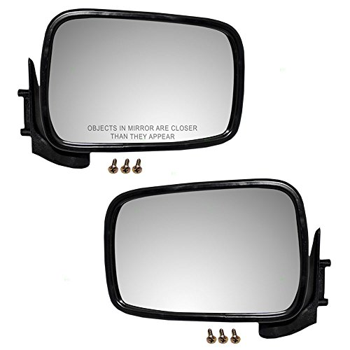 Driver and Passenger Manual Side View Mirrors Replacement for Mazda Pickup Truck UB4569180 8BU269120