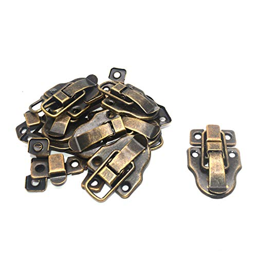 """Tulead 10 Sets Vintage Latch Hardware Case Hasps Catch Bronze Box Toggle Latches 2.4""""x1.6"""" with Mounting Screws"""