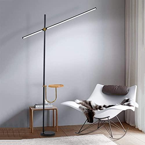 Lámpara de pie LED con Mesa 6000K Lámpara de luz Diurna Lámpara de pie con Estante para Lectura Ángulo Ajustable para Sala de Estar Dormitorio Hogar Dedcor 20W
