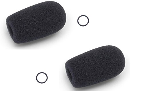 Replacement Aviation Microphone Windscreens for Bose, Lightspeed, David Clark, Crystal Mic (2-Pack Standard Model)