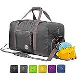 Faltbare Reisetasche 60L, Superleichte Reisetasche für Gepäck Sport Fitness Wasserdichtes Nylon...