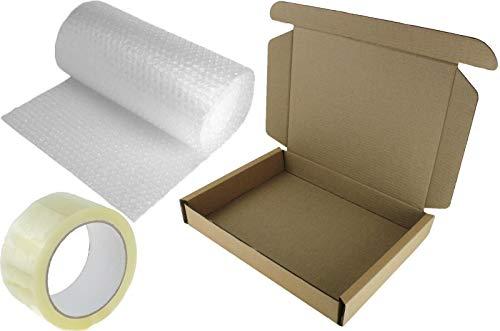 1x Laptop Shipping Postal Box 47x31x6cm Strong Safe + 3m Bubble WRAP + Packing Tape