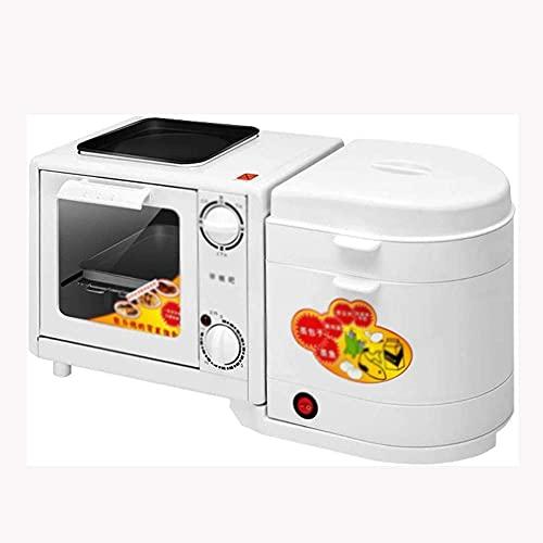 N&O Estación de Desayuno Familiar 4 en 1 tostadora eléctrica multifunción de...
