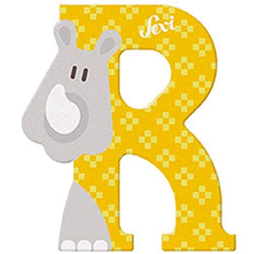 Sevi - Lettre R - Rhinocéros - Bois - 83018