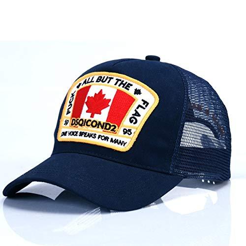 Gorra de béisbol de Malla con Letras Hombres y Mujeres, Gorra Bonnet Homme Dad Hat-Navy Blue-Adjustable