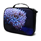 Hermosos corales de UVA en Acuario Bolsas de Regalo cosméticas de Viaje Bolsa de Maquillaje para niñas Bolsa de Viaje cosmética Pequeña Bolsa Impresa multifunción para Mujeres