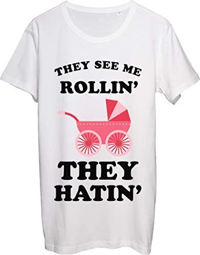 They See Me Rollin' Thay Hatin' Lindo cochecito de bebé para hombre