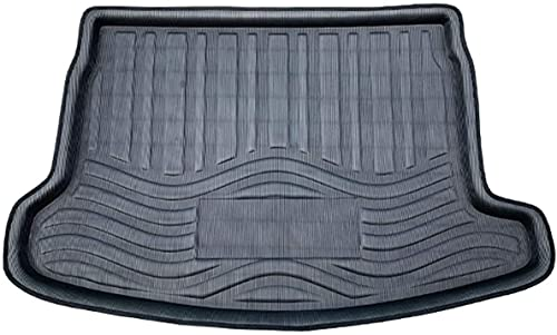 Gummi Auto Kofferraummatten Hintere Bodenmatte für Nissan Qashqai J11 2014 2015 2016 2017 2018 2019, Liner Wasserdichte Staubdichte Rutschfest Anti-Scratch Dekorations Zubehör