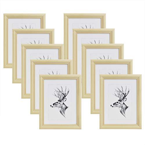 WOLTU 10x Cadre Photo 15x20cm Cadre en Bois et Verre décoration Maison Artos Style Naturelle 9422-10