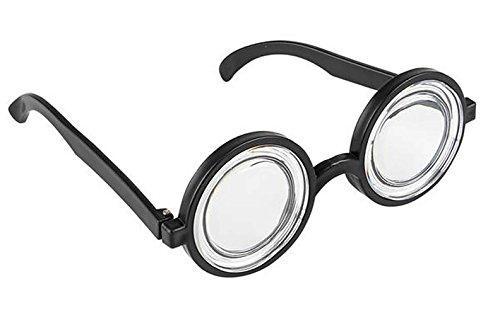 Scherzbrille Nerd Halloween Karneval Fasching Horror Schockbrille Kostüm Zombie, Brille:Professor