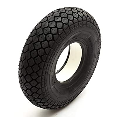Solid PU Tyre 4.00-5 Black Puncture Proof Fits Mobility Scooter Diamond Tread 5 Inch Rim