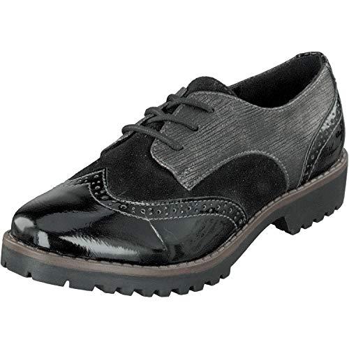 JANE KLAIN Damen Schuhe Schnürer Budapester 232-085 in Schwarz (38 EU)