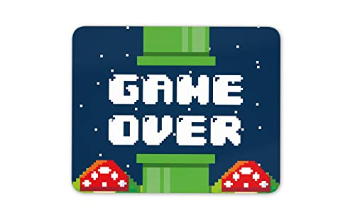 Game Over Mario Pipes Muis Mat Pad - Retro Gamer Oude School 8 Bit Gift #14686