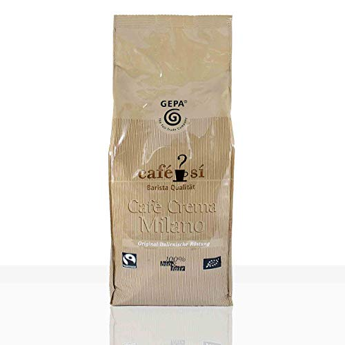 Gepa Cafe Si Cafe Crema Milano Fairtrade Kaffee - 1kg ganze Kaffee-Bohne