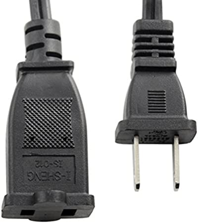 US Power Extension Cable Cord US AC 2-Prong Male//Female Power cable10A//125V,USA Outlet Saver Power Extension Cord Cable 2-Prong 2 Outlets for NEMA 5-15P to NEMA 5-15R 9.84ft//3m Tekit