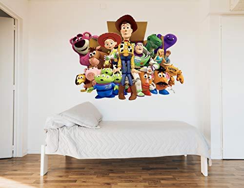 Toy Story Sticker mural en vinyle pour chambre d'enfant 120 x 150 cm
