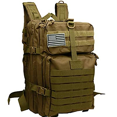 Tesinll Tactical Backpack 45 Liters Military Backpack Bug Out Bag Army Backpack