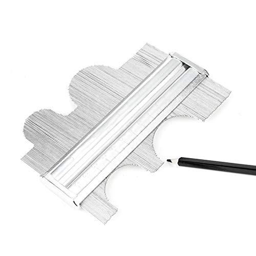 1pc Irregular Perfil De Calibre Duplicador De Metal Gramil De Acero Inoxidable Carpintería Carpintero Medida De Ángulos Digital De Plata 150mm