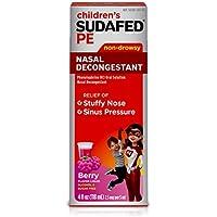 Children's Sudafed PE Nasal Decongestant Berry-Flavored Liquid, 4 fl. oz