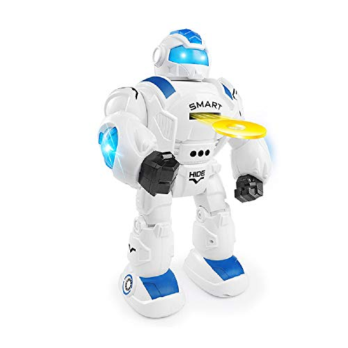 COSMOLINO Kinder Ferngesteuerter Roboter, Intelligenter Roboter mit Gesten Sensor, programmierbar, singend, LED-Augen, Roboter für Kinder, Geschenke