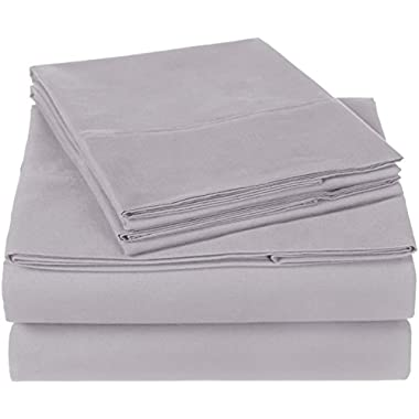 Pinzon 300 Thread Count Organic Cotton Sheet Set - King, Dove Grey