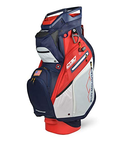 Sun Mountain C-130 Supercharged Cart Bag '20 Navy/White/Red