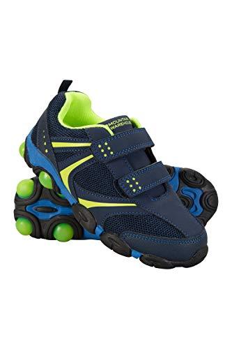 Mountain Warehouse Light up Junior Schuhe - Strapazierfähige Schuhe, Leichte Schuhe, Atmungsaktive Kinderschuhe, Klettverschluss - Schuhwerk Für Reisen Diesen Marineblau Kinder-Schuhgröße 25.5 DE