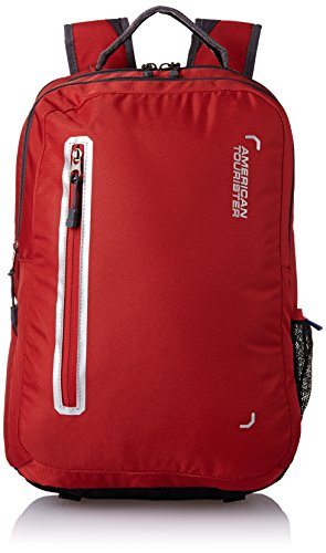 American Tourister Polyester 32 Ltrs Red Laptop Bag (AMT Buzz 2016 Backpack 07-RED)