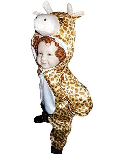 Giraffen-Kostüm, J24 Gr. 86-92, für Babies und Klein-Kinder, Giraffen-Kostüme Giraffe Kinder-Kostüme Fasching Karneval, Kinder-Karnevalskostüme, Kinder-Faschingskostüme, Geburtstags-Geschenk